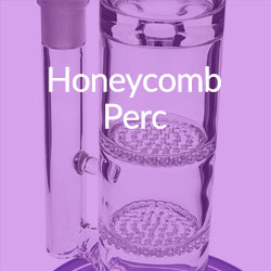 honey comb perc bong water pipe graphic