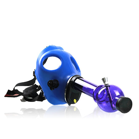 Acrylic Gas Mask Bong blue