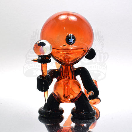 CL1 Red Munny With Crushed Opals Vapor Rig - Smoke City