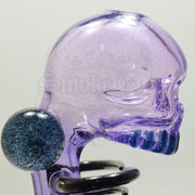 Carsten Carlile Purple Rain Skeletal Vapor Bub Rib Cage Rig With Marbles - Smoke City