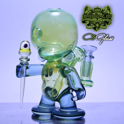 CL1 Rain Drop and Illuminati Munny Vapor Rig