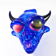 BNC Delightful Devil Glass Pendant Blue Honeycomb Eye 1