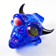 BNC Delightful Devil Glass Pendant Blue Honeycomb Eye 2
