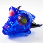 BNC Delightful Devil Glass Pendant Blue Honeycomb Eye 4