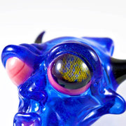 BNC Delightful Devil Glass Pendant Blue Honeycomb Eye 8