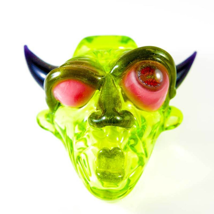 BNC Delightful Devil Glass Pendant Slyme Green Millie Eye 1