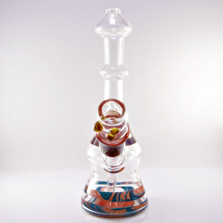 Dooms Day Clear - Orange - Blue Vapor Rig 14mm - Smoke City