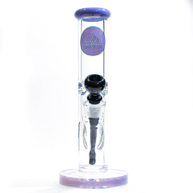 "King Glass 7MM Water Pipe - Purple - Straight - 12"" bong"