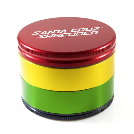 LARGE 4-PIECE RASTA SHREDDER - Smoke City