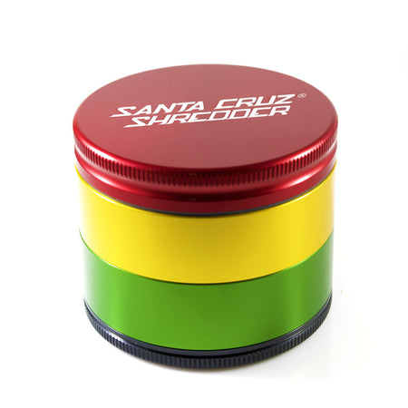 MEDIUM 4 - PIECE RASTA SHREDDER - Smoke City