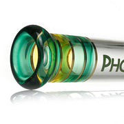 Phoenix 7MM bong - Multi Color Sections - Straight - 18""