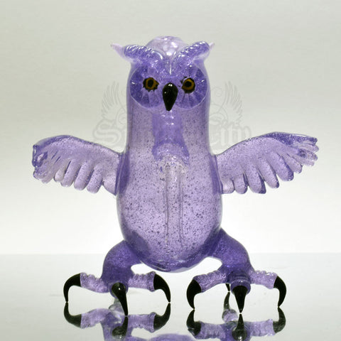 Four Winds Flame Works Purple Rain Owl Vapor Rig