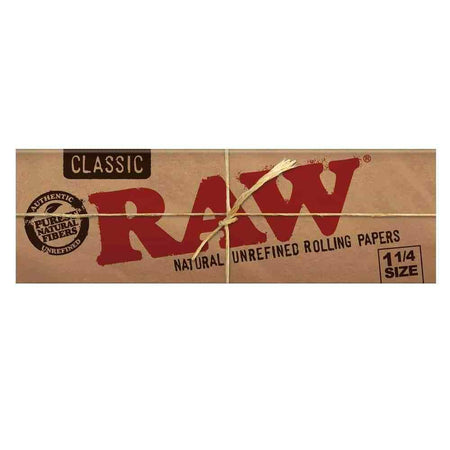 Raw Unrefined Classic 1.25 1 1/4 Size Cigarette Rolling Papers - Smoke City