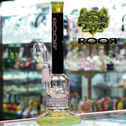 Roor Tech - Micro Slugger Vapor Rig 10 Arm Percolator - Black / Slime Green - Smoke City