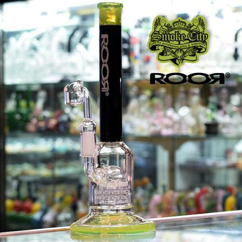 Roor Tech - Micro Slugger Vapor Rig 10 Arm Percolator - Black / Slime Green