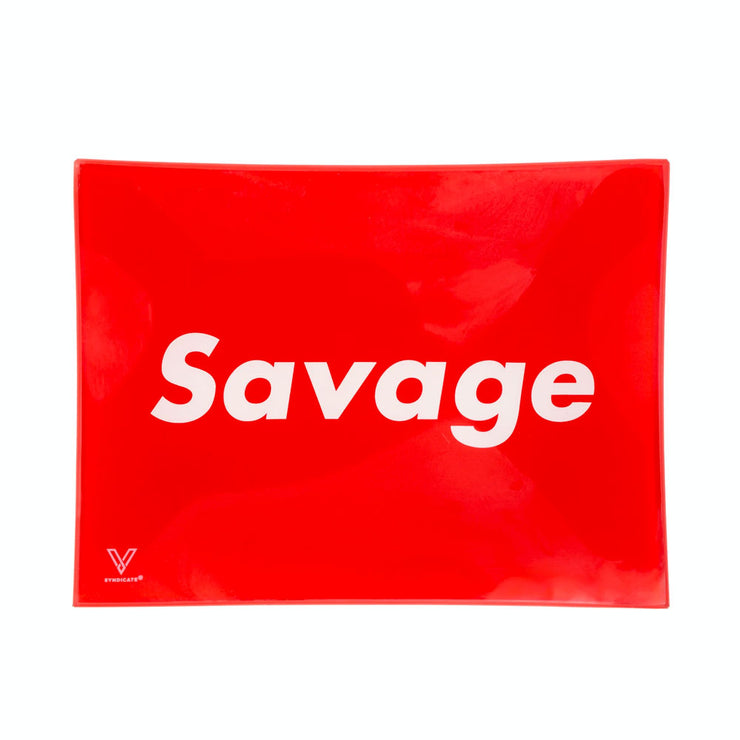 SAVAGE GLASS ROLLING TRAY - SMALL - V-SYNDICATE