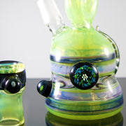 Slyme Green / Purple With Custom Millies and Horns Avalon Rig - Smoke City