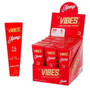 VIBES HEMP CONE PAPERS BOX