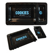 Cookies SF Custom Rolling Tray 2.0 (Black) - Smoke City