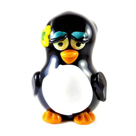 Girl Penguin Pipe by Crush Glass front