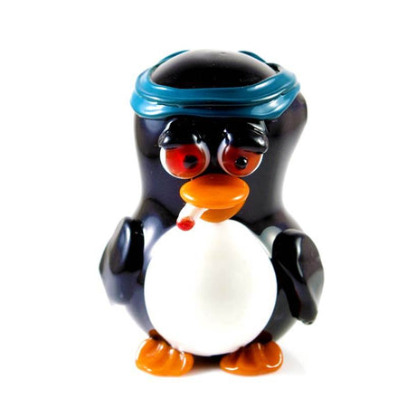 Penguin Glass Pipe by Crush Glass Front