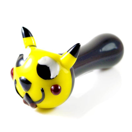 Pikachu Inspired Glass Hand Pipe Angle
