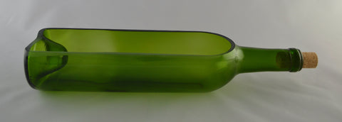 Planter - Green Wine Bottle