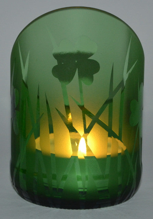 Angle cut candle holder - Grass and Clover