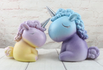 tirelire licorne dégradé face à face taille differentes