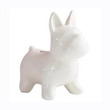 Tirelire Bouledogue Chien Design Blanc