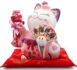 Tirelire Chat Chinois couleur rose
