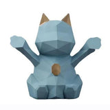 Tirelire Chat Design Bleu