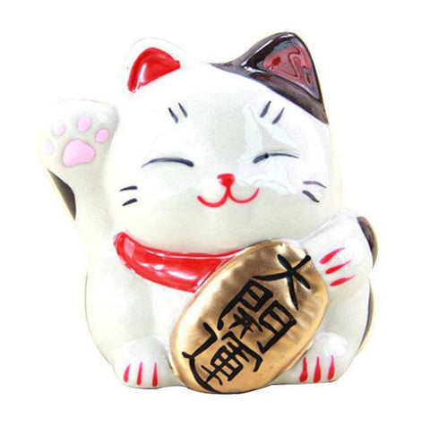 Tirelire Chat Japonais Blanc