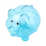 Tirelire Cochon Transparent Bleu