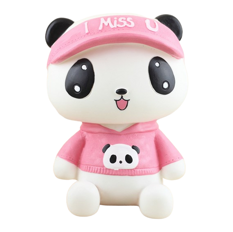 Tirelire Fille Panda rose