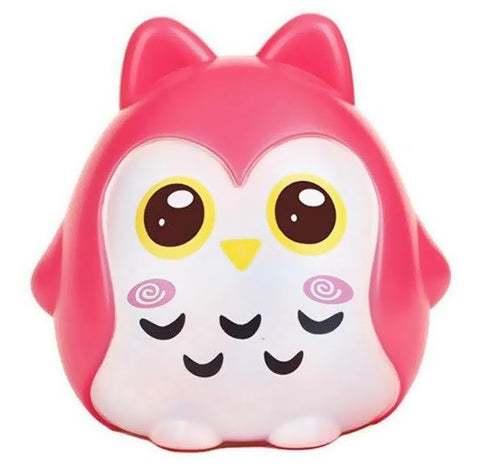 Tirelire Hibou Rose Adorable
