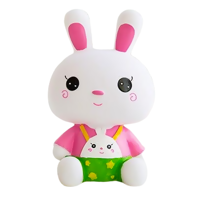 Tirelire Lapin Rose de Face