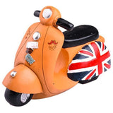Tirelire Originale Moto Orange sur fond blanc