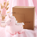 Tirelire Licorne Rose avec dimensions