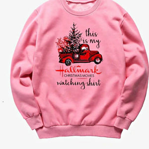 Open image in slideshow, Womens Christmas sweater, pink - Thesantaland
