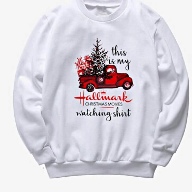 Womens Christmas sweater, white - Thesantaland