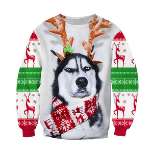 GRUMPY HUSKY Christmas Sweater