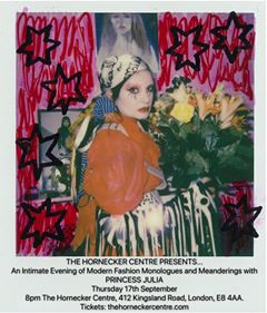 An Intimate Evening of Readings and Musings all things Fashion by Princess Julia over Dinner 17th September