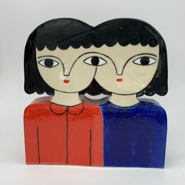 The Twins Ceramic Sculpture by Kinska