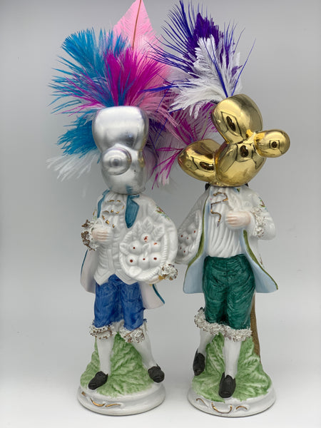 'the dalston dandies' Ceramic Collage Sculpture by Tony Hornecker