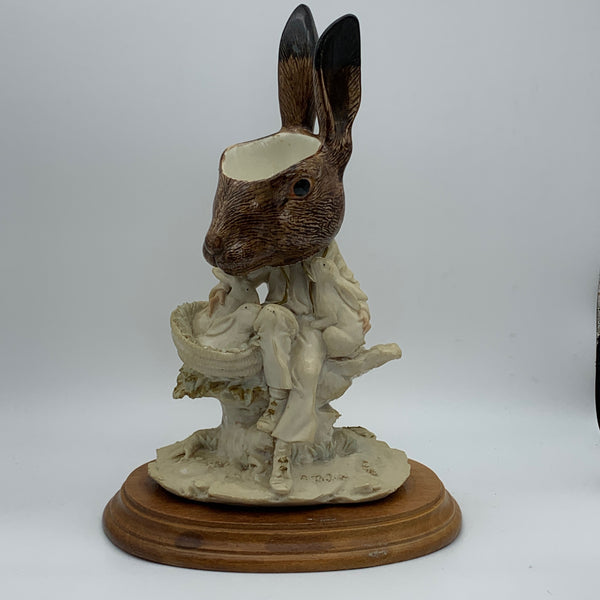 'the bunny boss' Ceramic Collage Sculpture by Tony Hornecker