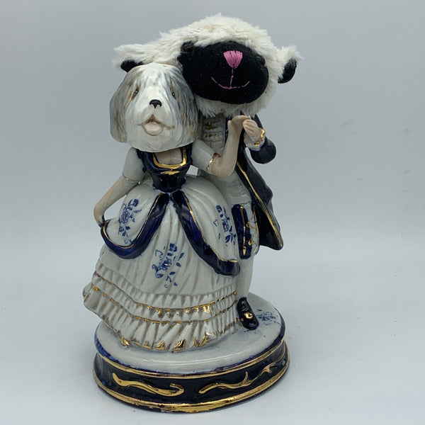 'the wolves in sheep's clothing' Ceramic Collage Sculpture by Tony Hornecker