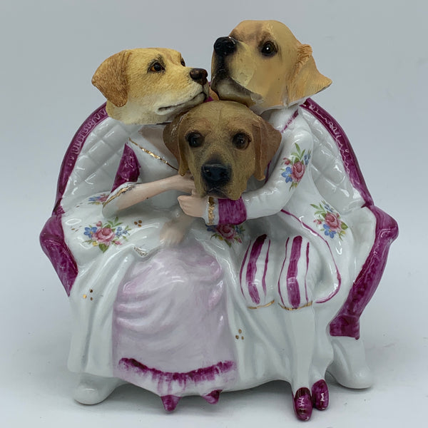 'the pups' Ceramic Collage Sculpture by Tony Hornecker