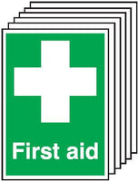 210x148mm First Aid - Self Adhesive Pk of 6