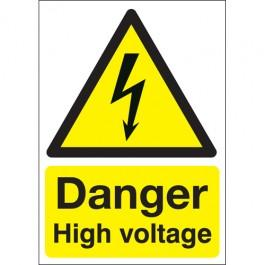210x148mm Danger High Voltage - Self Adhesive Pk of 6